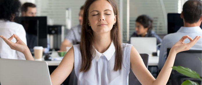 mindfulness at work, stress relief, focus, fit&delicious